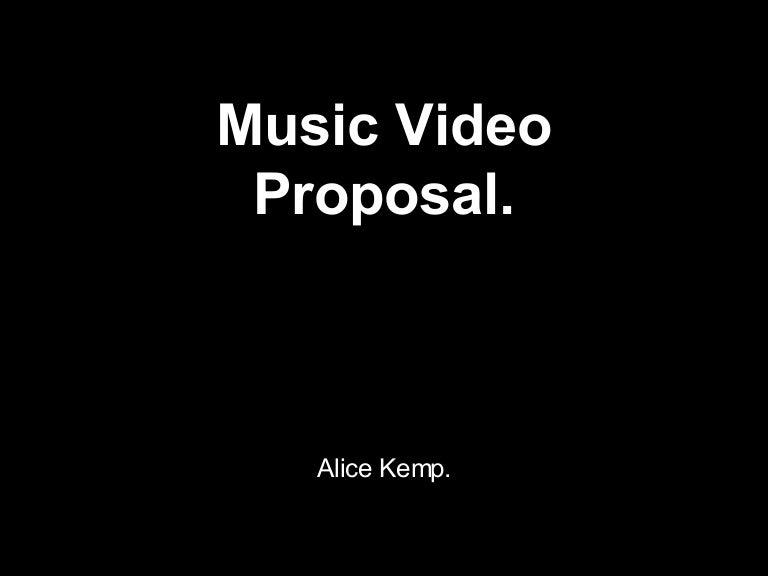 music video proposal 2