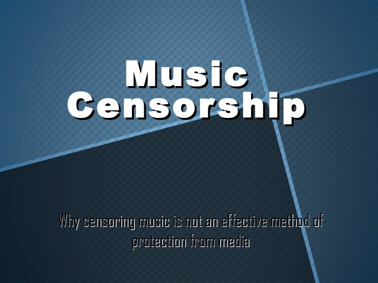 an introduction to the issue of censorship of music Censorship of music refers to the practice of editing of musical works for various reasons, stemming from a wide variety of motivations, including moral, political, or religious reasons.