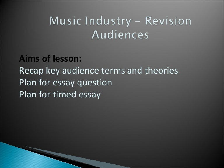 music industry audience revision