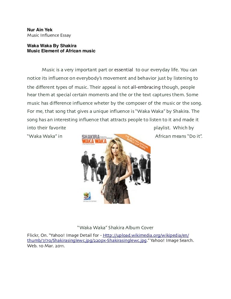 the influence of music essay The power of music essay length: 997 words (28 double  music is one of the areas of organization arranging stimulli in patterns of deep meaning and influence,.