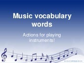 Music vocabulary words