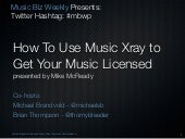 How to use Music Xray to submit your music for licensing.
