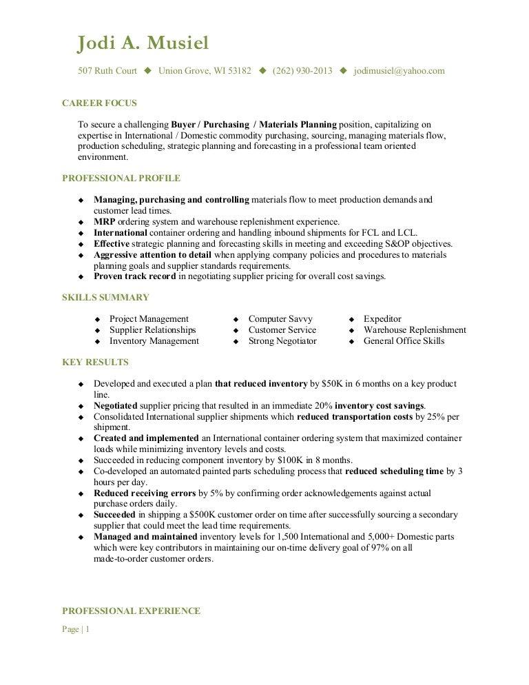 musiel  jodi a  resume buyer
