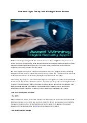 How to Secure Your Business with Digital Security Tools?