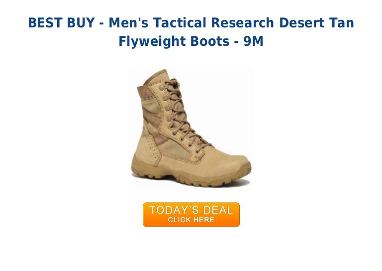 0fad40068f4 Must have mens tactical research desert tan flyweight boots - 9 m