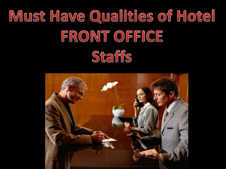 qualities of hotel front office associates