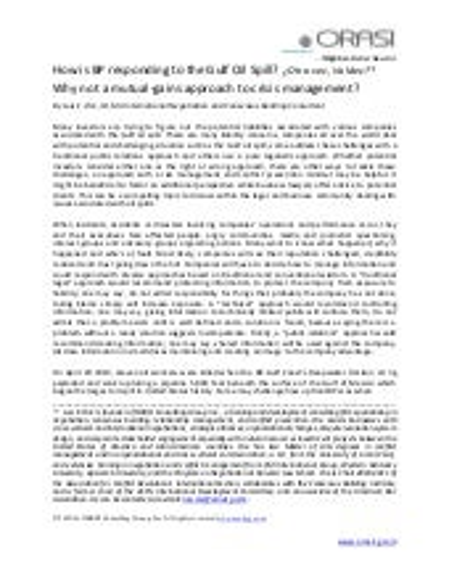 Crisis management essay