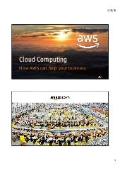 Cloud Computing - How AWS can help your business