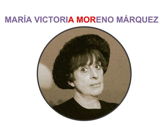 MARIA VICTORIA MORENO