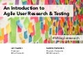 An Introduction to Agile User Research and Testing #MW2015