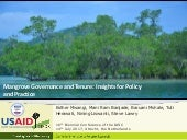 Mangrove governance and tenure: Insights for policy and practice from selected sites in Indonesia, Tanzania and a global review