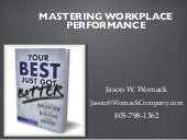 Mastering Workplace Performance - London, UK