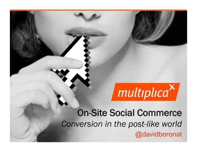 Social commerce. Webcongress Miami 2012.