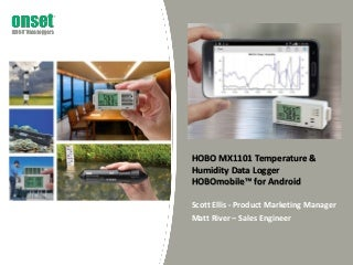 HOBO MX1101 Temperature & Humidity Data Logger & HOBOmobile for Android