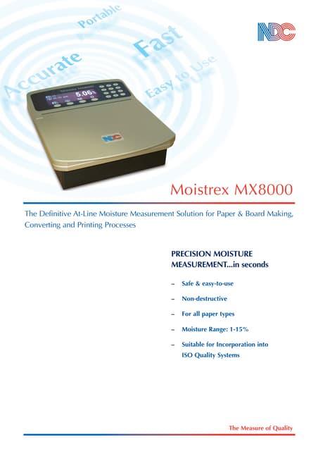 ANALIZADOR DE HUMEDAD EN PAPEL MOISTREX Mx8000