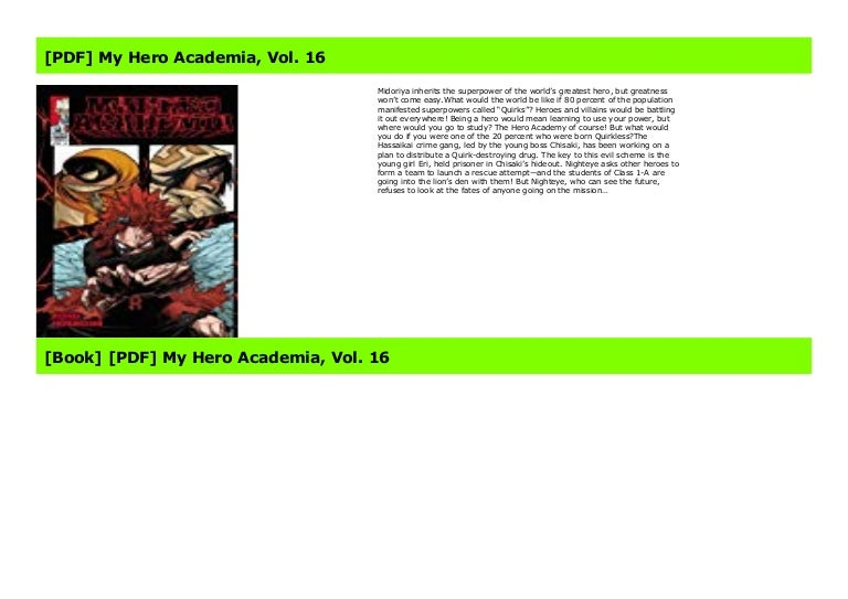 Pdf My Hero Academia Vol 16