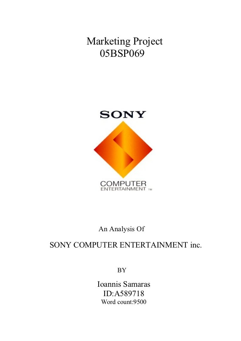 My thesis-on-sony-computer-entertainment-inc