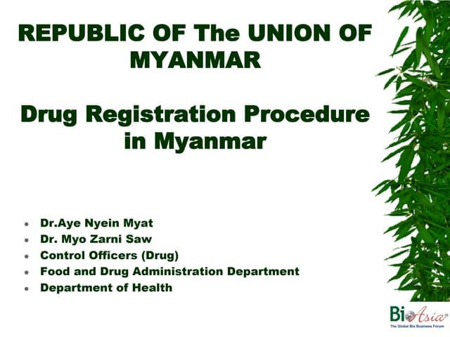Myanmar Presentation - BioAsia 2013
