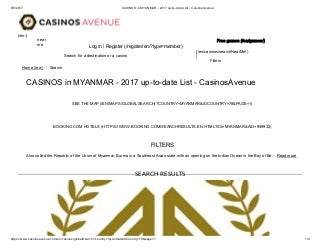 MYANMAR CASINO IN BORDER AREA-နယ္စပ္မွာဖံြ႔ၿဖဳိးေနတဲ့ အခြန္လြတ္ကာစီႏိုလုပ္ငန္း