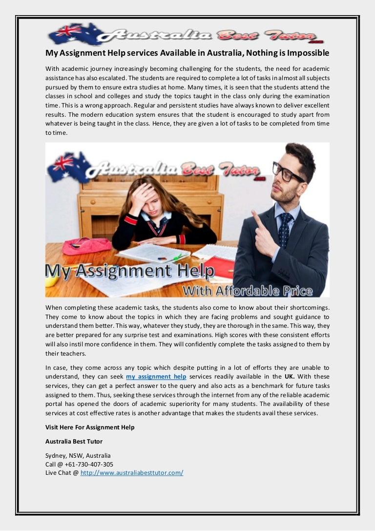 My assignment help australia