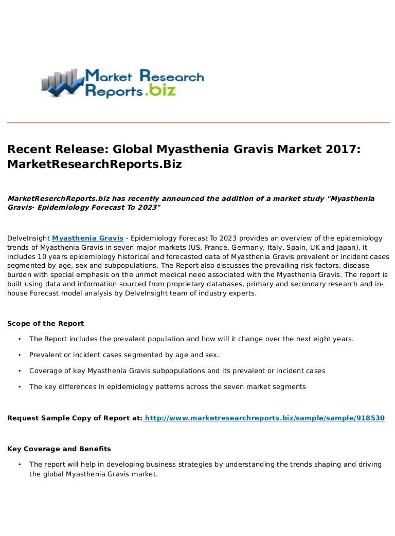 recent release: global myasthenia gravis market 2017