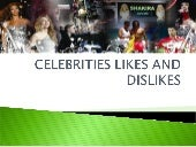 Celebrity likes and dislikes in a ... - butaivilniuje.info