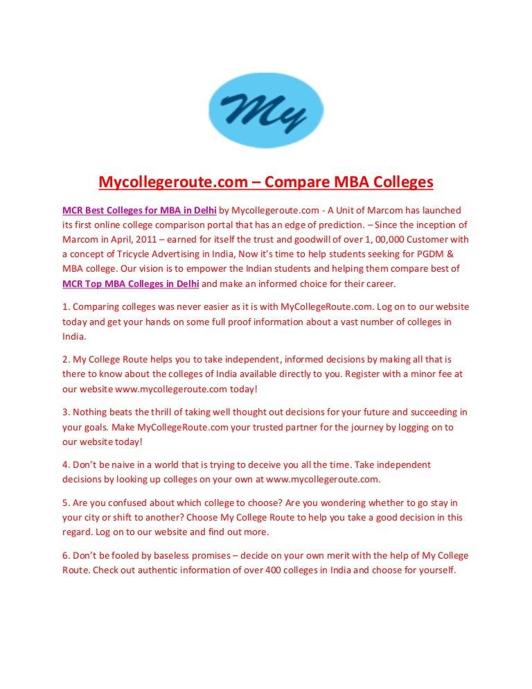 compare 3 colleges