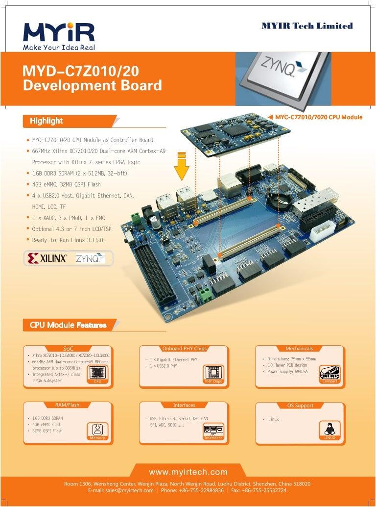 MYD-C7Z010/20 Development Board