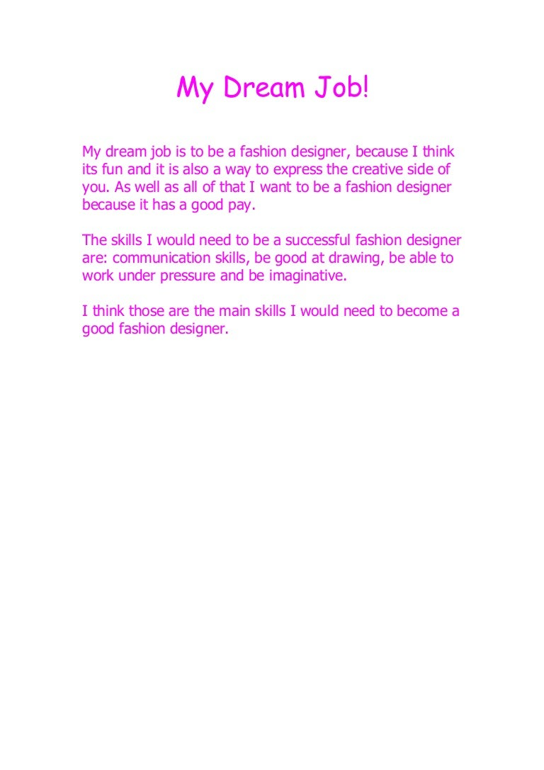 My Dream Job. Cover Letter ...