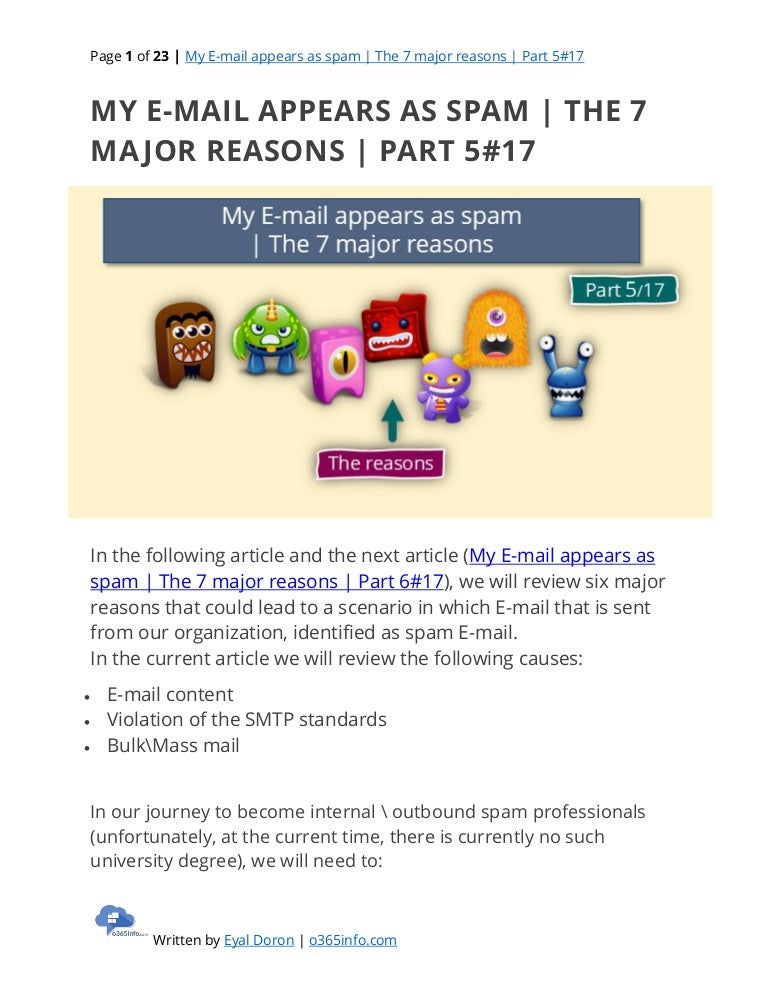 My E-mail appears as spam   The 7 major reasons   Part 5#17