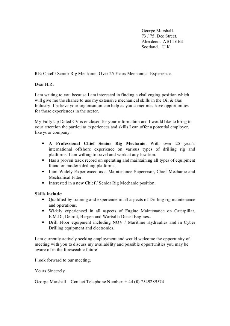 Building Maintenance Supervisor Cover Letter sample of a – Maintenance Supervisor Cover Letter