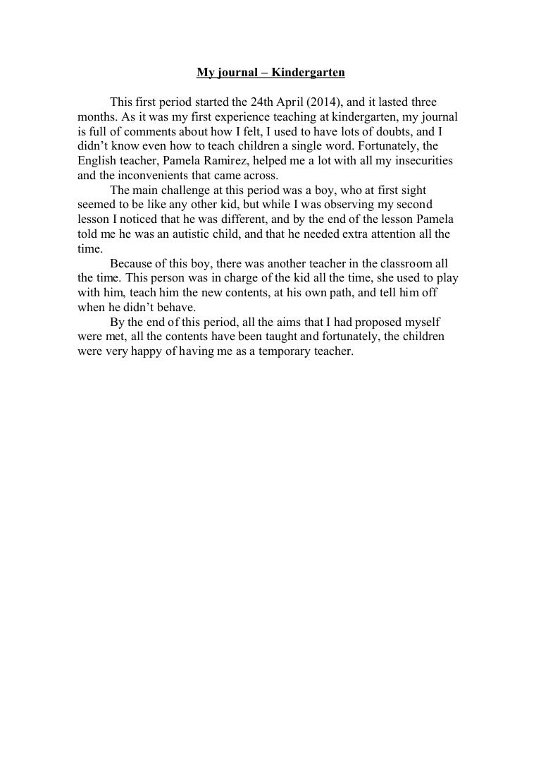 my journal resumen