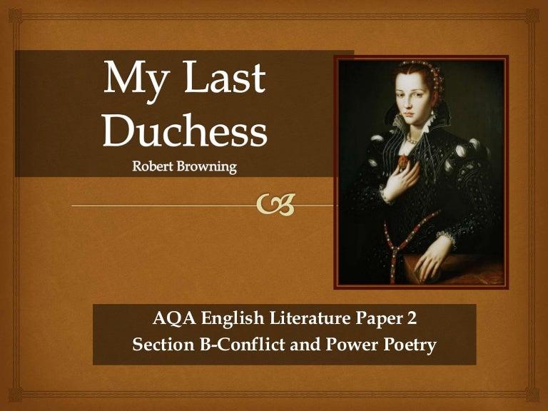 my last duchess character analysis duke