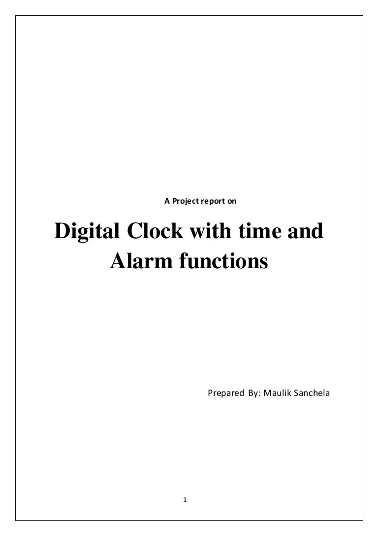 Project Report On The Digital Clock Using Rtc And Microcontroller 8051 Circuit Relay Delay Free Electronic Circuits 8085 Projects