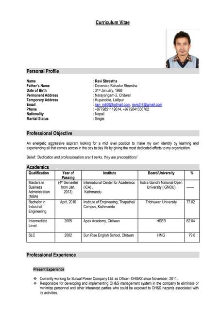 1 Bio Data Cv Kamala Pandey