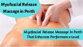 Myofascial Release and Cupping Massage Therapy in Perth