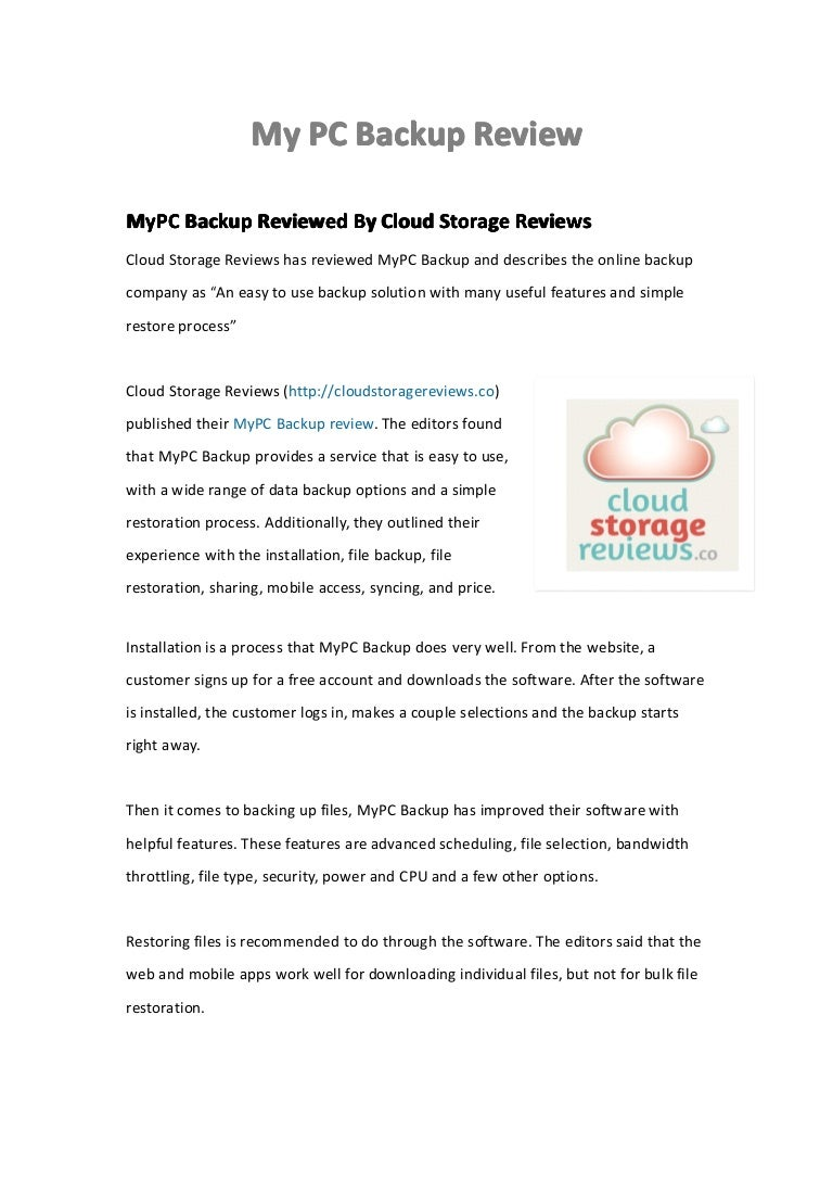 Mypc backup reviews - Mypc Backup Reviews 39
