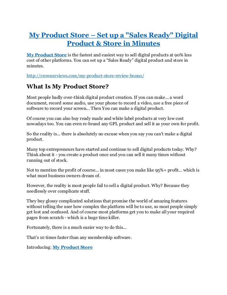 ccaab90d4ecb7 My Product Store review in detail and (FREE)  21400 bonus