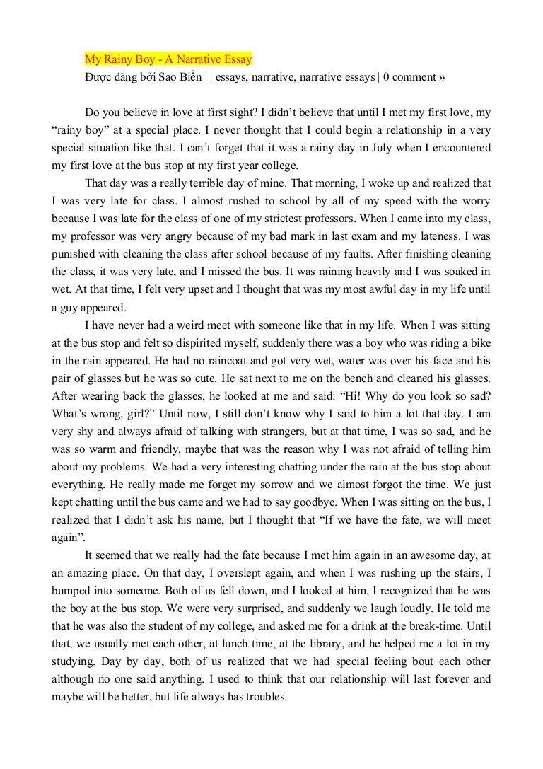 descriptive essay about first love Write a scene where two characters of different backgrounds (think romeo and juliet) fall in love at first sight write for fifteen minutes when you're finished, share your practice in the comments section and if you share, be sure to leave feedback for a few other writers.