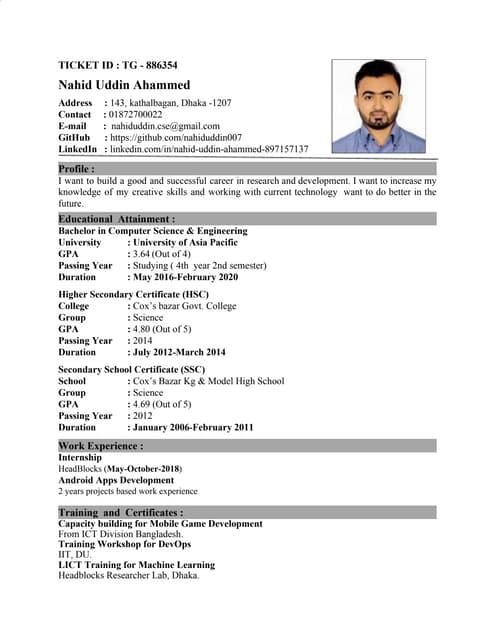 My Updated CV