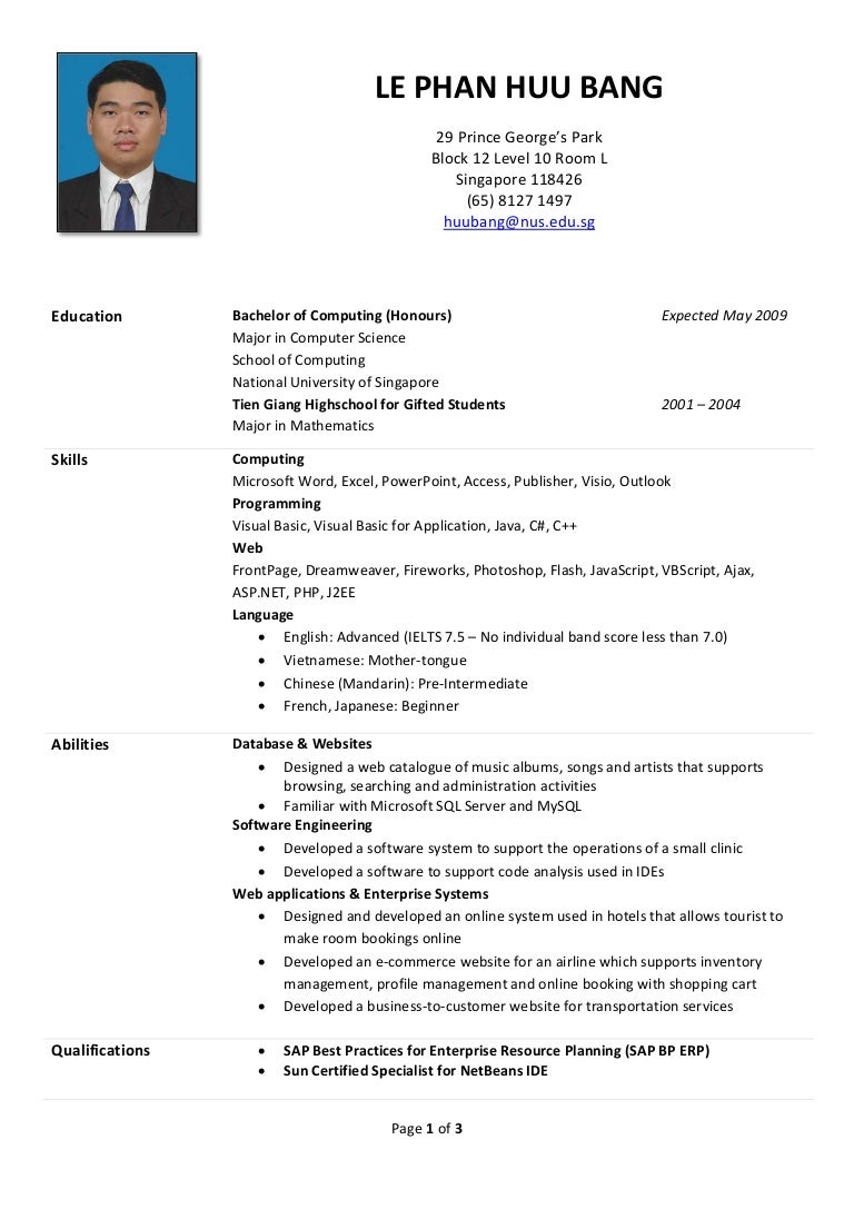 Resume Sample For Job Application Singapore Resume Ixiplay Free