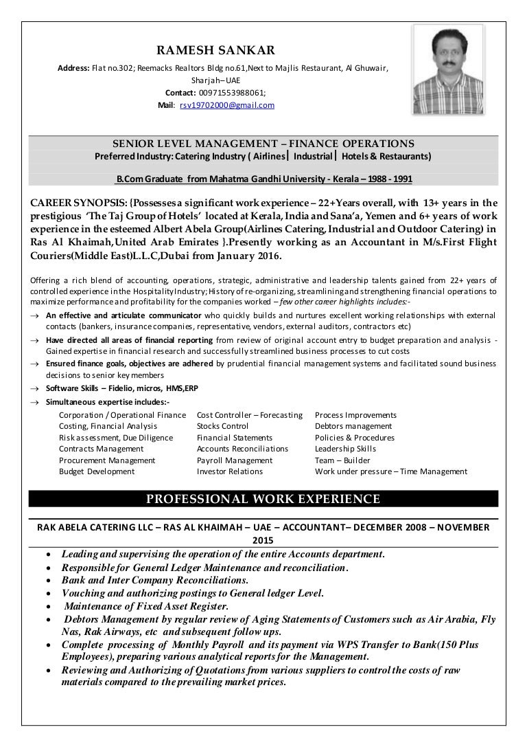 My Resume- Ramesh Sankar