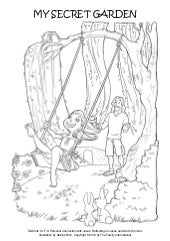 Coloring Page: My Secret Garden