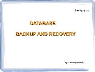 MySQL Backup & Recovery