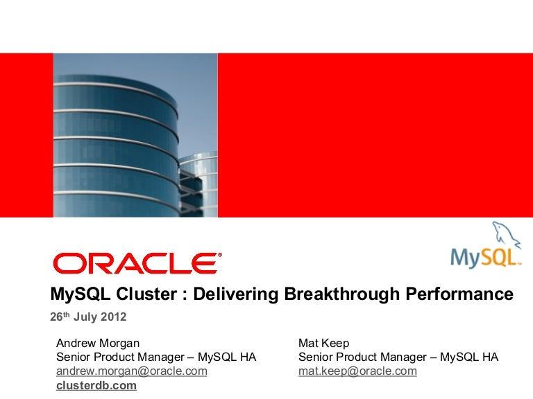 MySQL Cluster performance best practices