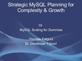 MySQL Scaling Presentation