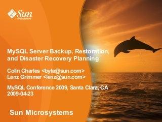 MySQL Server Backup, Restoration, and Disaster Recovery Planning