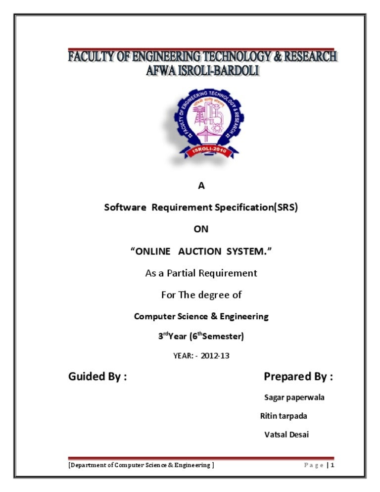 Srs on online auction system ccuart Gallery