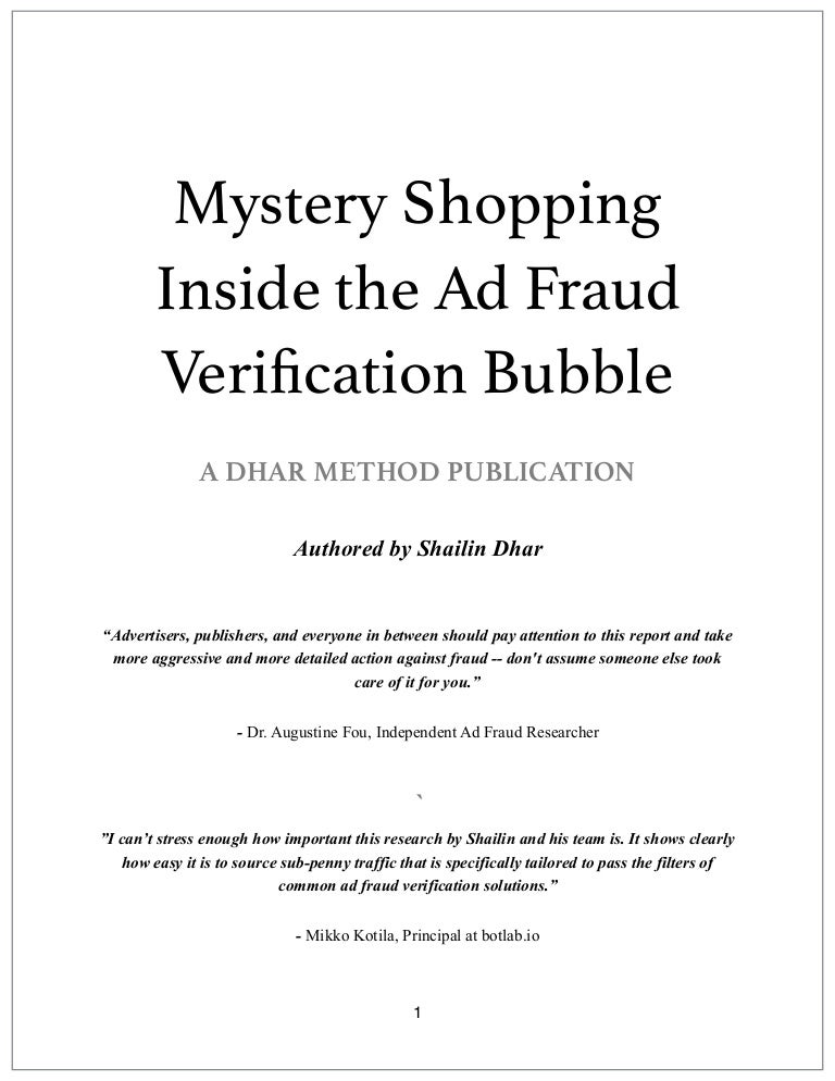 Mystery Shopping Inside The Ad-Verification Bubble