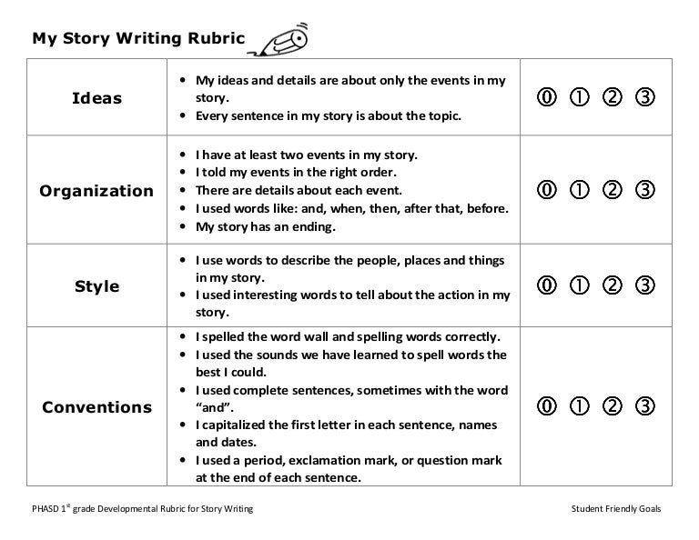 my story writing grade student friendly writing rubric. Black Bedroom Furniture Sets. Home Design Ideas